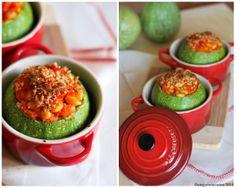 Mini cocotte in gres smaltato colore rosso @L E Creuset Italia #mini #cocotte #rosso #zucchine #soia #vegan #veggies