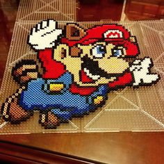 Super Mario Bros 3 perler beads by perlpop