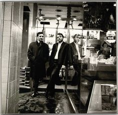 Francis Bacon and George Dyer on the Orient Express to Athens, 1965 (gelatin silver print), Deakin, John (1912-1972) / Private Collection / Photo © Christie's Images / Bridgeman Images