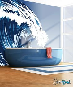 In love with the idea of wall decals!  Gorgeous and easy to change if you redecorate!
