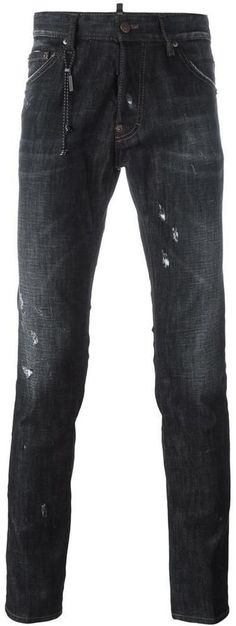 Shop designer slim-fit jeans for men at Farfetch. Distressed Jeans, Dsquared2, Slim, Guys, Cool Stuff, Stylish, Pants, Men, Outfits