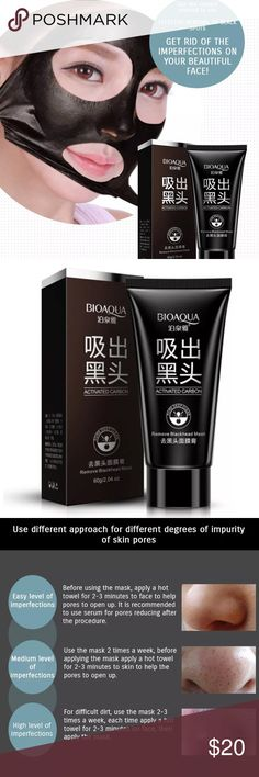 BIOAQUA Blackspot & Blackhead Remover Mask Removes black spots/blackheads. Deeply cleanses skin. Cleans pores. Affects gently. Refer to photos for best results!!! Other