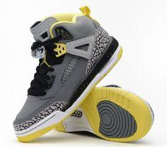 Jordan Spiz'ike GS- Cool Grey & Vibrant Yellow