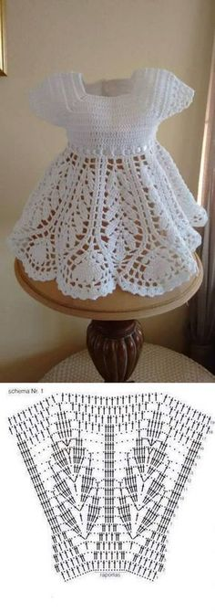 Baby Knitting Patterns Shawl Learn how to knit baby dress Crochet Dress Girl, Knit Baby Dress, Crochet Girls, Crochet Baby Clothes, Crochet For Kids, Crochet Dresses, Baby Knitting Patterns, Baby Dress Patterns, Crochet Patterns