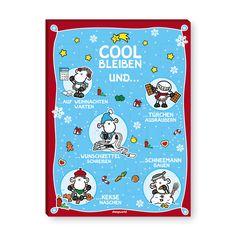Adventskalender »Cool bleiben«  Endlich eine coole Version des britischen Klassikers! Mit diesem süßen Adventskalender wird die Vorfreude auf Weihnachten noch ein bisschen süßer.  http://sheepworld.de/shop/Winter-14-15/Adventskalender-Cool-bleiben.html