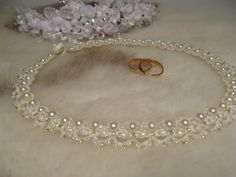 lovely pearl tatted bridal necklace