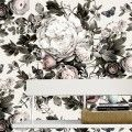 Summer Squall in Daylight White Vinyl Wallcovering - by Ellie Cashman Design