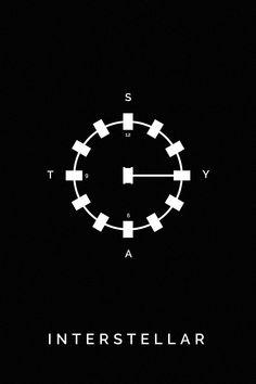Resultado de imagen para interstellar minimalist poster