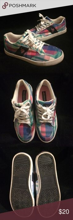 U.S Polo Assn. - Sneaker All man made material. • Sz 8 worn less than 5 times. U.S. Polo Assn. Shoes Sneakers