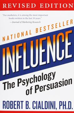 A fascinating book on the nature of influence and human persuasion. Highly recommended.