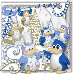 GJ-CU Penguin Dance 2 FS : Scrap and Tubes Store, Digital Scrapbooking Supplies