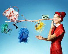 The Fendi Mini Peekaboo and Micro Baguette featured in the Vogue Italia Accessory issue