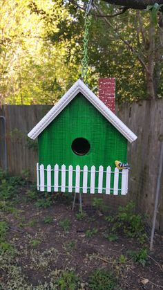 #267A Green Home With White Picket Fence ($20.00)