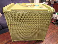 Wicker Laundry Laundry Hampers for sale Storage Bags For Clothes, Clothes Basket, Bag Storage, Wood Laundry Hamper, Laundry In Bathroom, Hamper Basket, Vintage Outfits, Vintage Fashion, Vintage Laundry