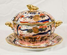 "Coalport Imari Sauce Tureen in the ""Admiral Nelson"" Pattern 