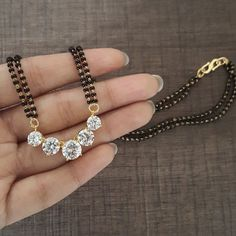 One can buy exquisite Mangalsutra from Silverrage, a well-known and trusted silver jewelry store in India. Diamond Mangalsutra, Gold Mangalsutra Designs, Gold Jewellery Design, Handmade Jewellery, Bridal Jewelry, Beaded Jewelry, Silver Jewelry, Jewlery, High Jewelry