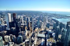 Panoramic View of Toronto From The CN Tower
