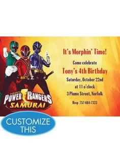 Birthday Theme Seasonal Party Goods Power Ranger