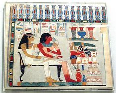 Djehuty and his Mother Receiving Offerings, Tomb of Djehuty