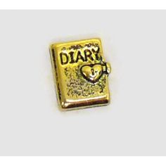 Diary charm. Charms that fits brands including Origami Owl floating Memory Lockets. Highest quality for your memory necklaces. Buy online now and see other charms for the living memory lockets