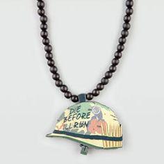 Army Helmet Necklace