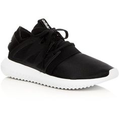 Adidas Tubular Viral Lace Up Sneakers (145 SGD) ❤ liked on Polyvore featuring shoes, sneakers, lace up shoes, sports shoes, sport shoes, lacing sneakers and adidas trainers