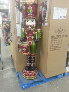 It doesn't get better than a life-size nutcracker.