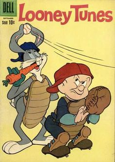 *BUGS BUNNY ~ Elmer Fudd,  Baseball, Carrot, Catcher#Repin By:Pinterest++ for iPad#