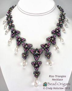 Bead Origami: Rizo Triangles Necklace