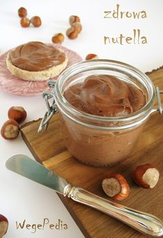 Fit nutella z daktyli - zdrowa, domowa, 3 składniki Delicious vegan NUTELLA from dates, only 3 healthy ingredients and 2 simple and quick recipes to . Healthy Deserts, Healthy Sweets, Vegan Desserts, Healthy Snacks, Burrito Bowl Meal Prep, Sweet Recipes, Snack Recipes, Food Allergies, Yummy Food