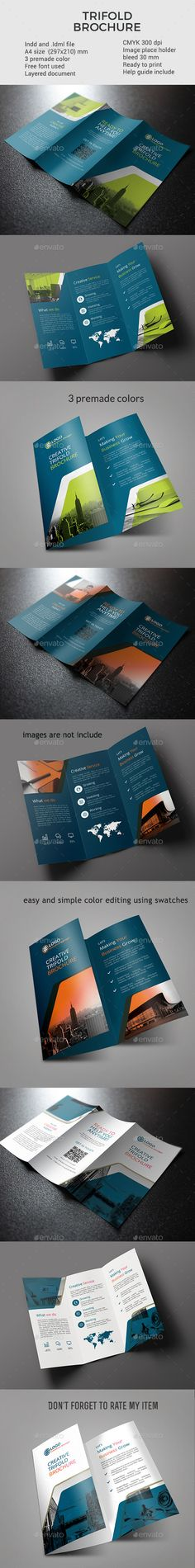 Corporate Trifold Brochure vol 5  InDesign Template • Download ➝ https://graphicriver.net/item/corporate-trifold-brochure-vol-5/17021531?ref=pxcr