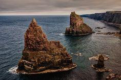 Rock, Piles De Duncansby, Écosse, Nord De L'Écosse