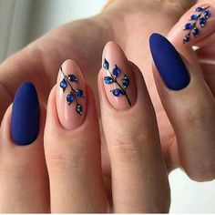 50 Lovely Blue Nails Ideas For Your Appe. - 50 Lovely Blue Nails Ideas For Your Appearance - Blue Nail Designs, Diy Nail Designs, Blue Design, Nails Kylie Jenner, Nail Jewels, Manicure E Pedicure, Beach Pedicure, Fall Pedicure, Stylish Nails