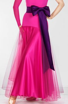 Danceshopper.com DSI Amber ballroom dance skirt. Price depends on color. $239.95-$279.95