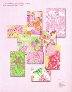wow they were so much cuter...2006 Lilly Pulitzer Prints