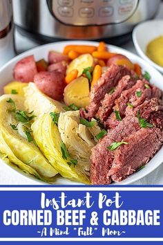 This is the BEST and easiest way to make traditional corned beef and cabbage. Use your Instant Pot for Easy Corned Beef and Cabbage with potatoes and carrots and enjoy this traditional Irish meal in a fraction of the time. Corn Beef And Cabbage, Cabbage Recipes, Instant Pot Corned Beef And Cabbage Recipe, Kitchen Recipes, Cooking Recipes, Healthy Recipes, Yummy Recipes, Meal Recipes, Easter Recipes
