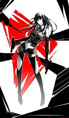 WRB Afi by arsenixc on DeviantArt Kickass Comic, Manga Anime, Anime Art, Cyborg Girl, Girl Sketch, Girls Frontline, 2d Art, Character Design, Character Ideas