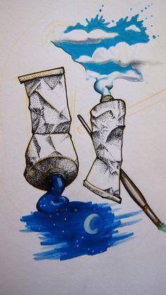 Farbtuben colortubes dotwork Illustration Art Kunst Heaven