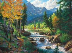 Mountain Medley (1000 Large Piece Puzzle by SunsOut)
