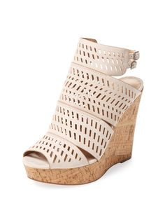29e94d04613 Apt Laser-Cut Wedge Sandal from Shoe Envy  Wedges   Chunky Heels on Gilt