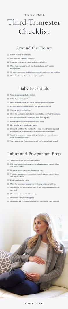 The Ultimate Third-Trimester Checklist. How To Sleep While Pregnant Third Trimester Getting Ready For Baby, Preparing For Baby, Baby On The Way, Baby Kind, 5 Weeks Pregnant, I'm Pregnant, Pregnancy Labor, Pregnancy Advice, Pregnancy Style