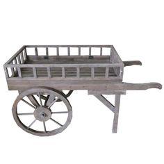 Vintage Flower Carts for Sale | Antique Wood Finish Large Flower Cart [Garden Planters] - £151.20 ...
