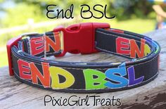 End BSL Dog Collar Awareness Dog Collar Pitbull by PixieGirlTreats