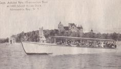 Captain Adkins operated several tour boats out of Alexandria Bay, including the Maxines and the Jolly Tar.