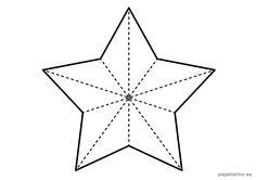 plantilla-estrella-cinco-puntas-navidad-grande Paper Crafts Origami, Diy Paper, Origami Art, Graduation Crafts, Christmas Crafts, Christmas Decorations, Space Party, Borders For Paper, Barn Quilts