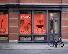 Eight Hour Day » ADMCi Identity + Branding. Thin geometric patterns layered over monochromatic bw photo images.