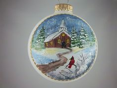 Church Ornament Christmas Pastor's Gift Winter by Barbarasartistry, $20.00