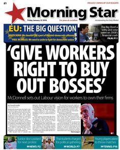 Morning Star Democratic Alliance, The Big Short, Workers Rights, Morning Star, January 2016, Socialism, Satire, Friday, Peace