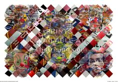 Bread and Circuses. CG print. Photo collage of sporting images.