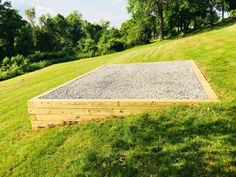 Does having a sloped property or difficult lawn space mean you can't get a high quality shed pad? Not with Best in Backyards! We can accommodate the toughest backyards and provide you with shed preparation that will extend the life of your shed! Backyard Swings, Backyard Seating, Fire Pit Backyard, Landscaping Retaining Walls, Backyard Landscaping, Backyard Storage Sheds, Sloped Yard, Back Garden Design, Garden Yard Ideas